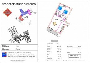 Plan de vente appartement A 1.1.03