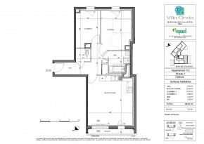 Plan de vente appartement T3 Nantes