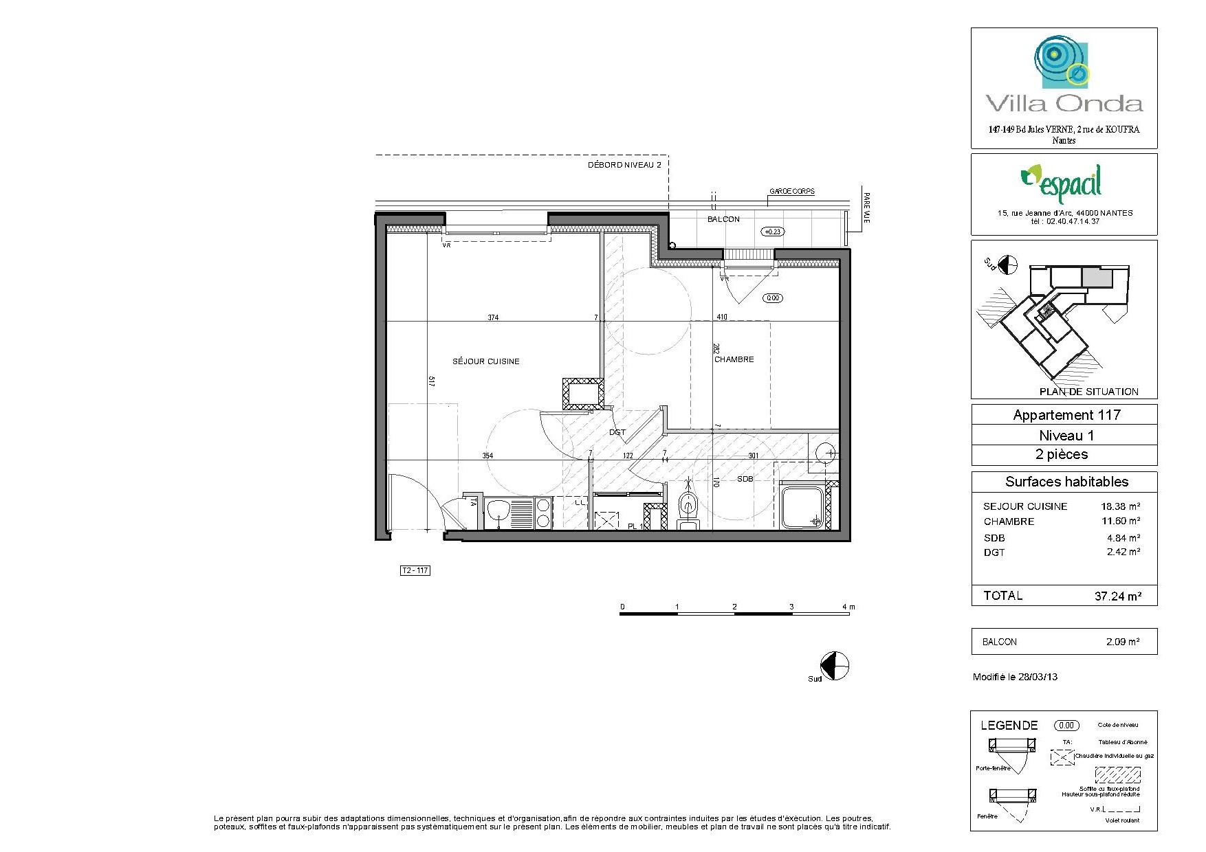 appartement t2 villa onda nantes. Black Bedroom Furniture Sets. Home Design Ideas