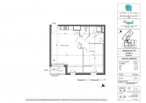 Plan de vente appartement T2 Nantes