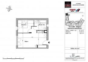 Plan de vente appartement T2 Neuville sur Saône