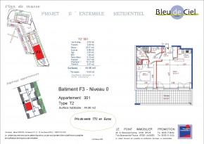 Plan de vente T2 Couzeix Limoges