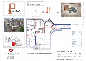 Plan de vente appartement T4 Limoges