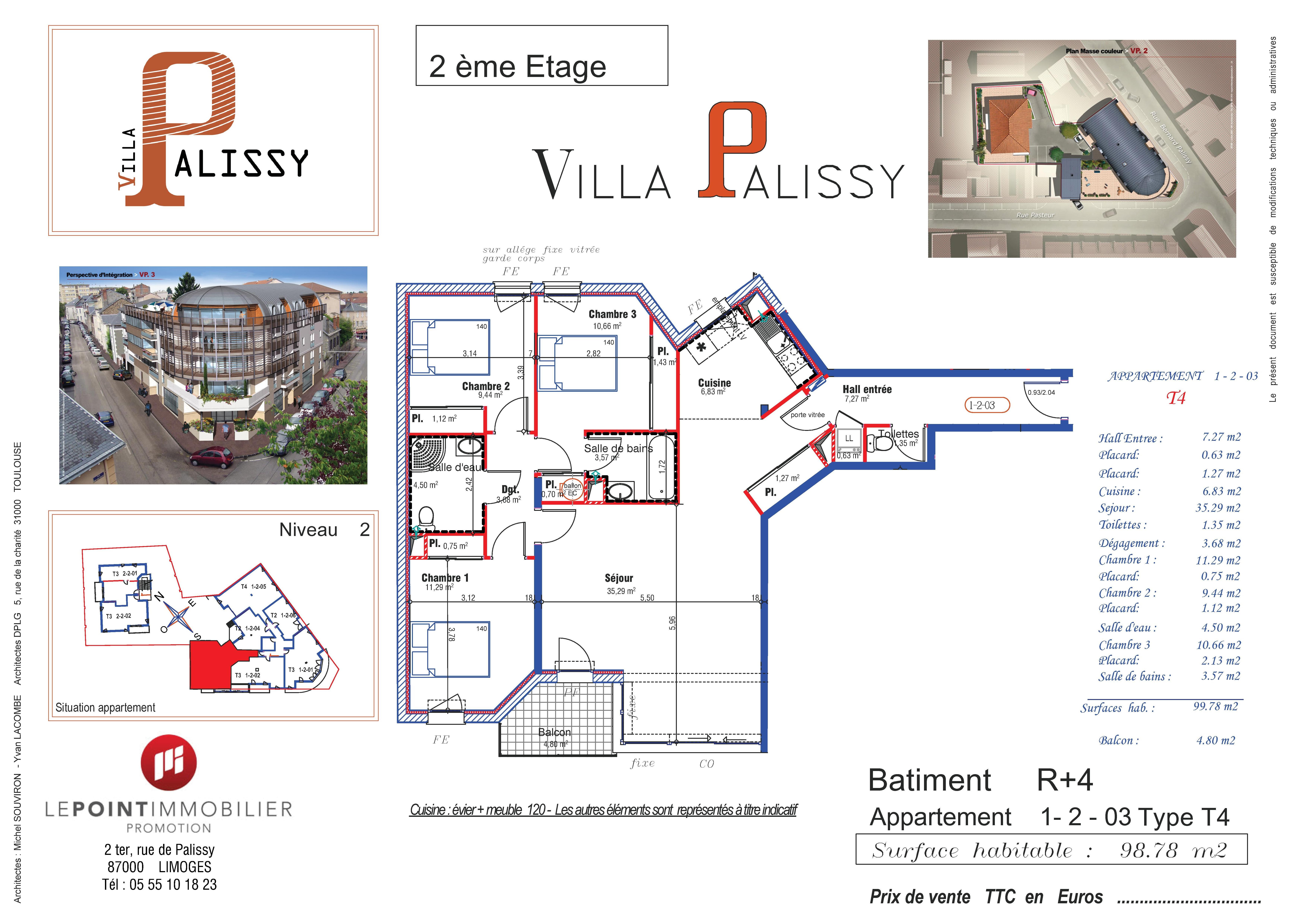 appartement t4 villa palissy limoges. Black Bedroom Furniture Sets. Home Design Ideas