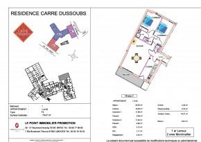 Plan de vente appartement T3 Limoges