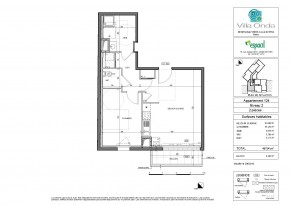 Plan de vente appartement T2 Nantes
