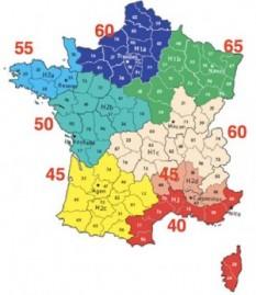 Carte zones RT 2012